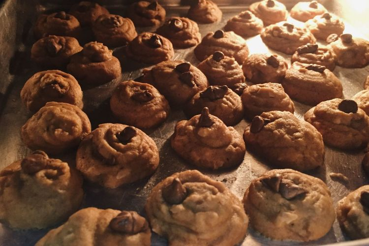 baking chocolate chip cookies in oven OvenBaked Oven Chocolatechipcookie Chocolatechip Cookies Food And Drink Food Freshness Sweet Food Large Group Of Objects Still Life Sweet Indulgence Cookie Dessert Baked Ready-to-eat Chocolate Temptation Indoors  High Angle View No People Abundance Unhealthy Eating Close-up