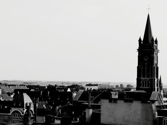 Church Blackandwhite Stand Out From The Crowd EyeEm Gallery EyeEm Best Shots EyeEm Masterclass Building History No People EyeEm Selects Cityscape City Clear Sky Sky Architecture Building Exterior Built Structure Clock Tower Tower Tall Tall - High