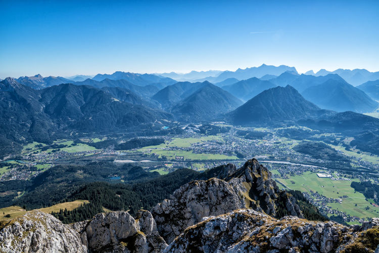 View into the valley Formation Outdoors Rock - Object Remote Solid Geology Physical Geography Idyllic Rock No People Day Nature Tranquility Sky Non-urban Scene Tranquil Scene Landscape Environment Mountain Range Beauty In Nature Scenics - Nature Mountain Alps Austria Tyrol Mountain Peak Dramatic Landscape