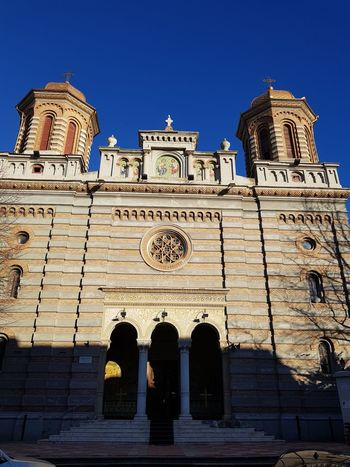 Catedrala sf.Petru si Pavel al Tomisului Architecture Religion History Travel Destinations Place Of Worship Spirituality Low Angle View Building Exterior Built Structure Blue Outdoors Sky Day No People