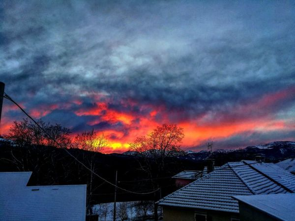 Clouds Fire Landscape Fire Sunset Accidents And Disasters No People Outdoors Sky Day