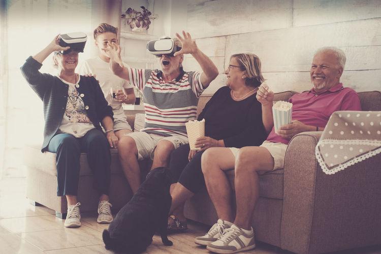 Family Enjoying Party At Home