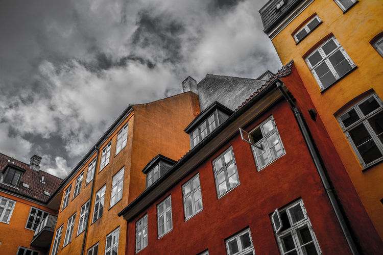 Architecture Building Exterior City Cloud - Sky Copenhagen Copenhagen, Denmark Danmark House Day House Low Angle View No People Outdoors Window архитектура Дания копенгаген