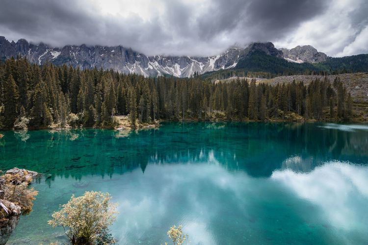 The blue color of this alp lake is awesome