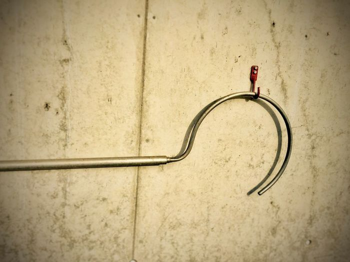 Red hook... Wall Wall - Building Feature Hooks Red Metal Hook Dreiländereck