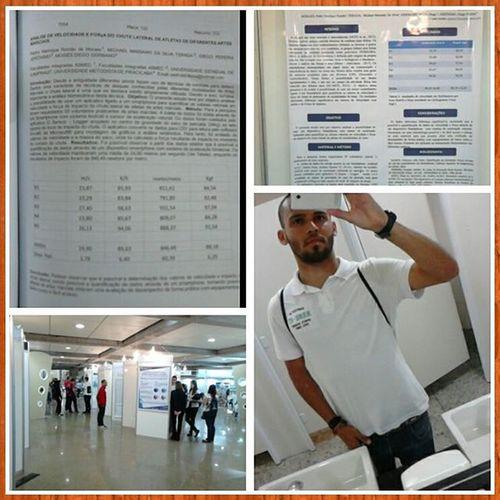 2* dia de congresso, apresentação de banner Celafiscs Braziliancongress EducacaoFisica Reboucas