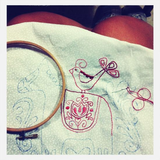 Sewing Red Work