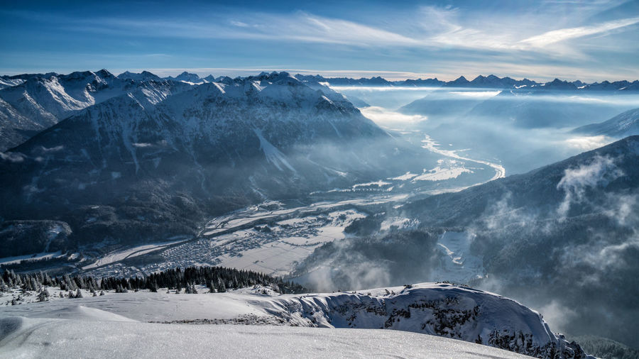 Lech valley from gaichtspitze