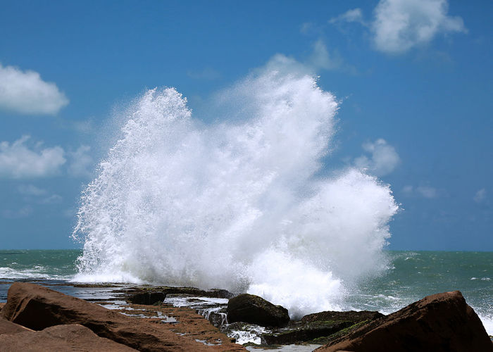 Wave against