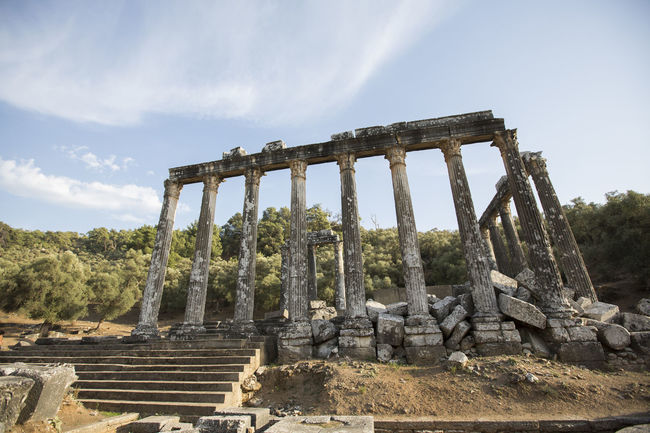 Euromos zeus lepsynos temple Ancient Euromos Euromos Ancient City Travel Zeus Day No People Old Temple Outdoors Sky Temple Travel Destinations