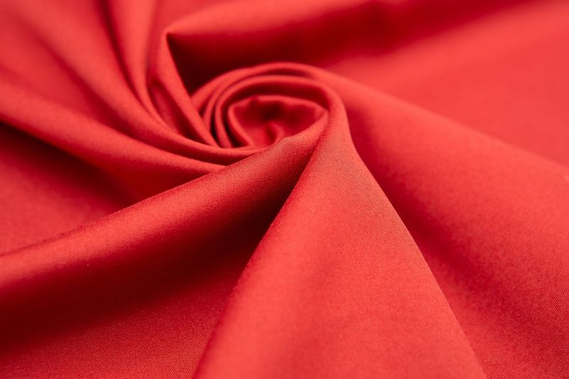 Silk Backgrounds Red Textile Full Frame Textured  Studio Shot Softness Satin Close-up