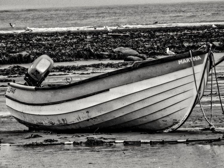 This was taken on a very wet and windy morning Robin Hood Bay Whitby Eye For Photography Fujifilm Creative Light And Shadow Shades Of Grey Black And White Photography Monocrome Creative Light And Shadow Malephotographerofthemonth Robin Hoods Bay Whitby Boats And Sea Boats And Water Eyeem Boats Black And White Collection  Black And White Photography Bnw Photography Close-up Close Up Photography Black And White Portrait
