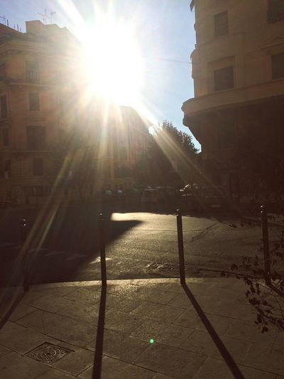 Sunny day in Rome Lens Flare Sunlight Sunbeam Sun Architecture Building Exterior Built Structure Sunshine No People Outdoors Sky Day City Nature Rome Instagood Quality Time First Eyeem Photo