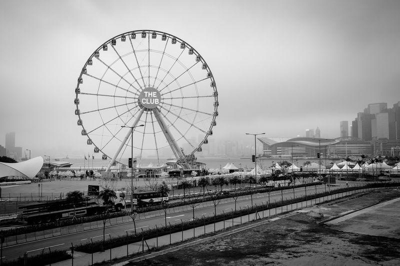 ASIA Black And White Blackandwhite Central Day Ferris Wheel Hong Kong Monochrome Observation Wheel