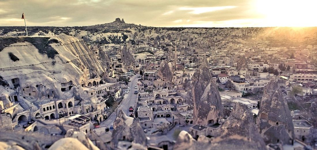 Sunset in Cappadocia Architecture Beauty In Nature Cappadocia Colours Dusk Colours Landscape Light Light And Shadow Monastery Nature Outdoors Peaceful Scenery Sky Sunset Turkey Village Life Village View Volcanic Landscape Lost In The Landscape Go Higher The Architect - 2018 EyeEm Awards Modern Hospitality The Creative - 2018 EyeEm Awards The Street Photographer - 2018 EyeEm Awards The Great Outdoors - 2018 EyeEm Awards The Traveler - 2018 EyeEm Awards The Photojournalist - 2018 EyeEm Awards