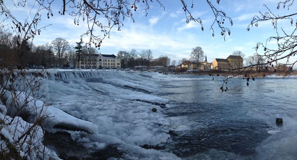 Architecture Cold Cold Temperature Grimma Landscape Mulde Muldental Nature No People Outdoors Panorama Sachsen Snow Water Winter