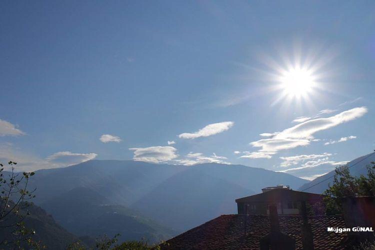 Beauty In Nature Blue Bulutlar Cloud Gökyüzüm Gökyüzümavi Güneş♡♥♡ Manzara Mountain Sunny