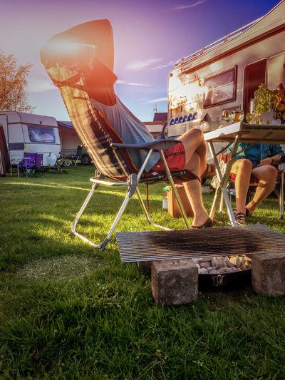 Architecture BBQ Building Exterior Built Structure Camping Campinglife Caravan Caravan Park Day Flare Grass Outdoors Sky