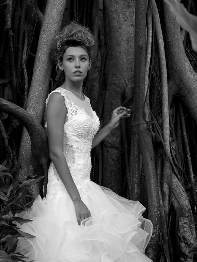Lost Young Adult Dress Wedding Dress Beautiful People Bride Young Women Beautiful Woman Hasselblad One Person Tree Formalwear Fashion Evening Gown Looking At Camera One Young Woman Only Adult Nature Fashion Model Bridal Shop Portrait Outdoors