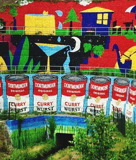Graffiti Gabionenwand No People Multi Colored Information Outdoors Art And Craft Graffiti Creativity