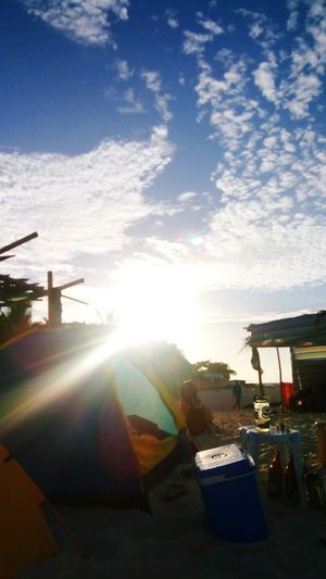 Unplugged in Selinog Island Mobilephotography Selinog Island DapitanCity Phillipines Island Life Whitesand Tent Sunlight Lens Flare Sky