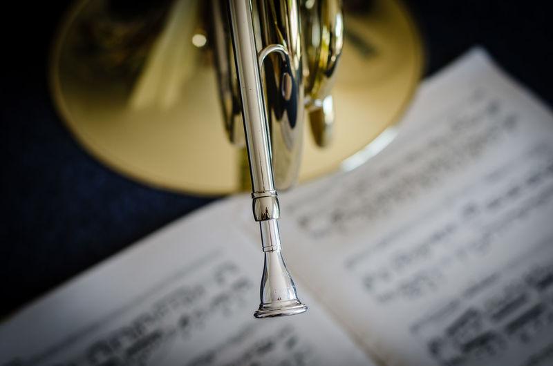 Close-Up Of Trumpet