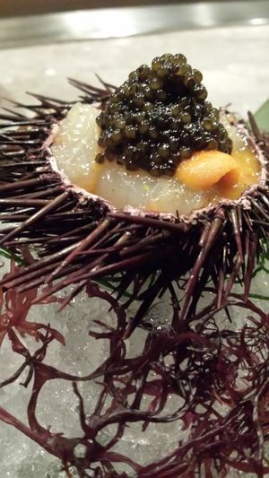 Food Photography Marinated Botan Shrimp Sea Urchin Oscietra Caviar