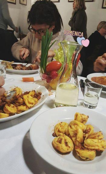 Cx2 + Px3: cappelletto e coniglio + patata, pinzimonio e piada 😍 Myperfectsunday at Casa delle Aie 💗