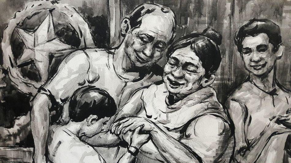 Filipino tradition. Respect elders. Family love. Mano. Filipino Culture Family❤ EyeEm Selects Day Close-up