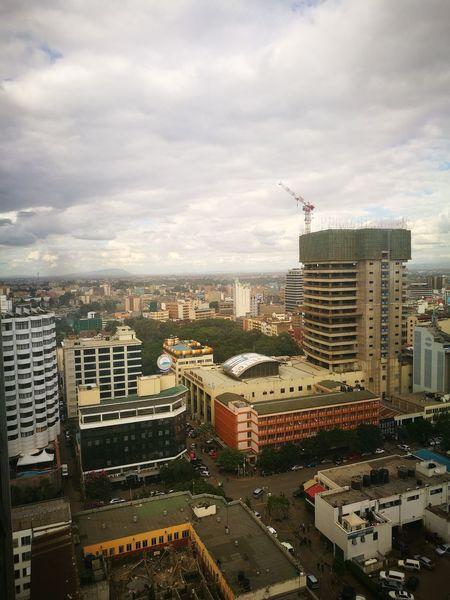 Nairobae Cityscape Skyscraper Aerial View 254 Nairobi Kenya