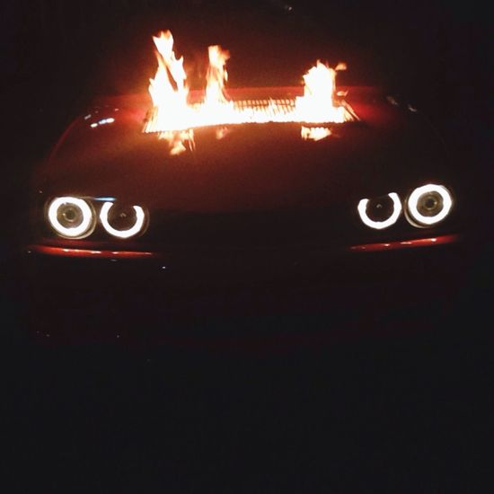 Bimmer on fire