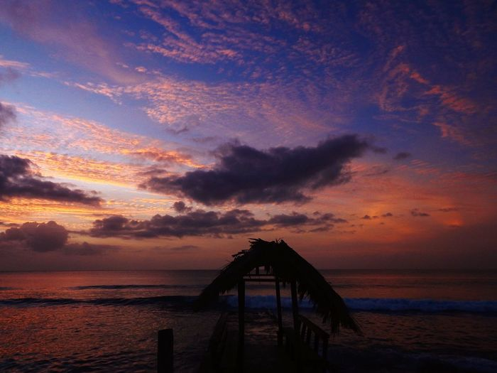 Sunset Cloudscape Waves Adventure Saltlife Jetty Sky Water Sea Cloud - Sky Sunset Scenics - Nature Beauty In Nature Beach Tranquility Tranquil Scene Horizon Architecture Nature Horizon Over Water Land No People Built Structure Idyllic Dramatic Sky Outdoors