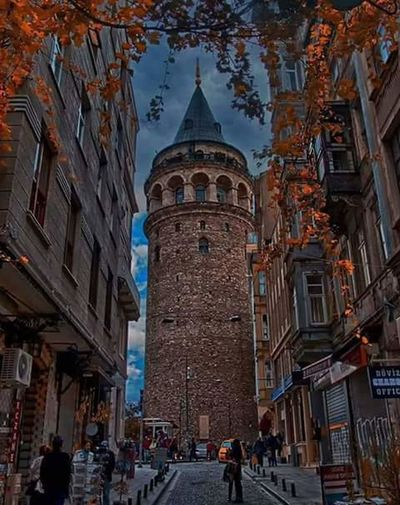 galata tower Architecture Street Business Finance And Industry Travel Destinations Building Exterior History City first eyeem photo