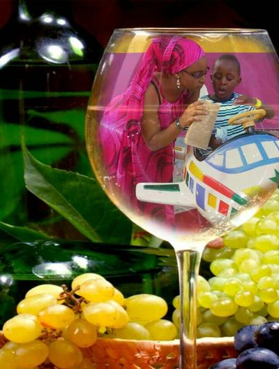 Mother N Son In A Glass