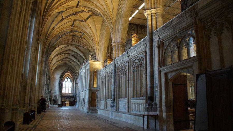Corridor at cathedral