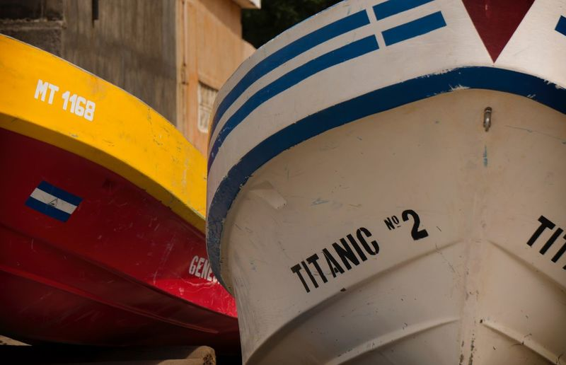 You must have guts to call your boat Titanic 2 EyeEmNewHere Titanic Casares Nicaragua Beach Colours Fishing Fisherman Boat Guts Western Script Communication Day Guidance