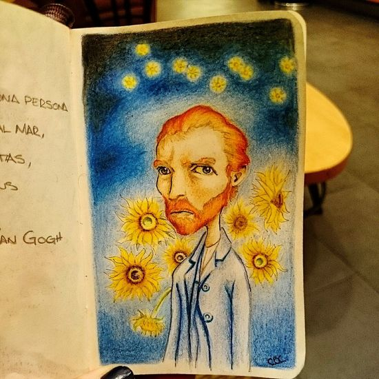 """Finished, thanks for my drawing love it @CarlosBetancourt """"Vincent van Gogh through your eyes..."""" Art, Drawing, Creativity Art Vangogh Colors"""