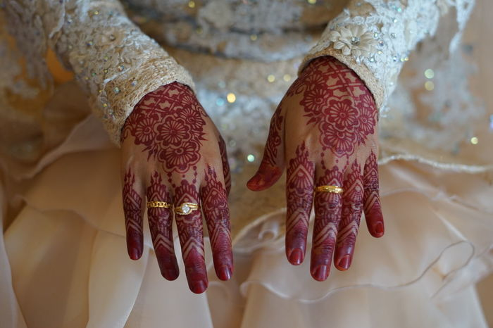 Bride Hand Bride Celebration Wedding Wedding Ceremony People Human Hand Adult Midsection Close-up Two People Bangle Ceremony Wedding Dress Togetherness Only Women Indoors  Adults Only Beauty