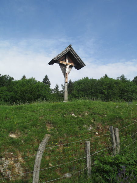 Bled, Slovenia Crucifix Day Grass Green Color Growth Landscape Nature No People Outdoors Plant Podhom Sky Tree