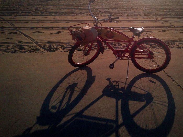 EyeEmNewHere EyeEm Selects Sunset Beach Transportation Mode Of Transportation Land Vehicle Bicycle Stationary Shadow No People Basket Nature Sunlight Outdoors Wheel Day