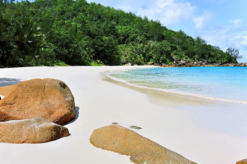 Anse Georgette, Beach on Island Praslin, Seychelles