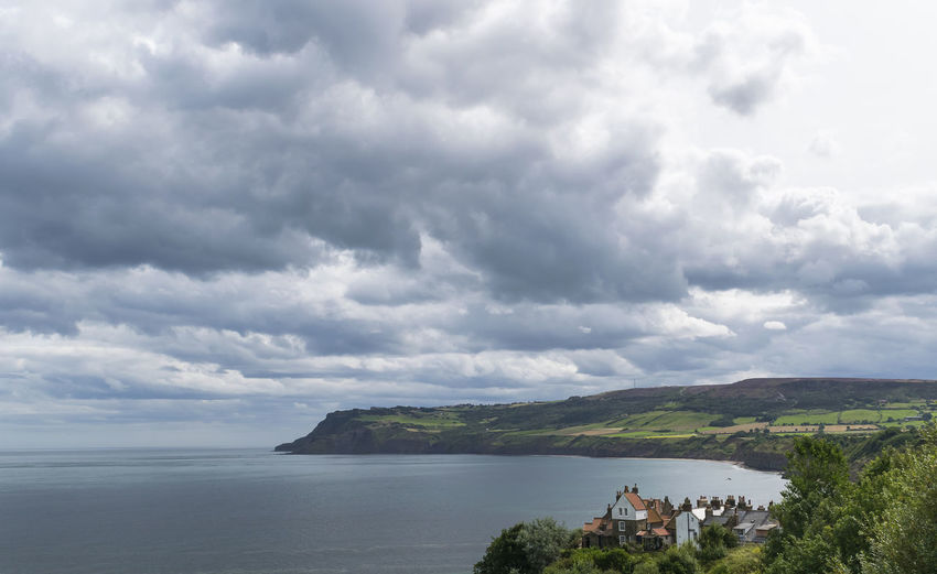 Robin Hoods Bay Yorkshire Yorkshire Coast Beauty In Nature Cliff Cliffs And Water Cloud - Sky Horizon Over Water Nature Outdoors Scenics Sea Sky Tranquility Travel Destinations Water