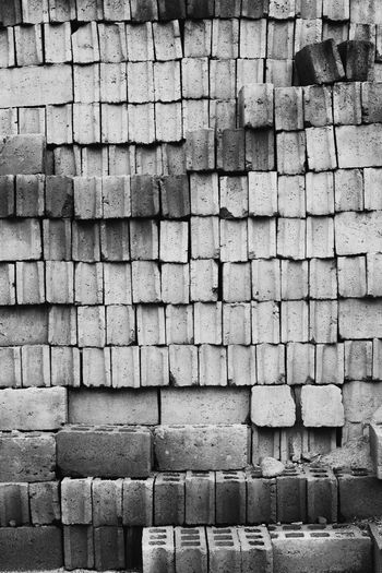 Backgrounds Brick Wall BYOPaper! Concrete Blocks Full Frame Hollow Block No People Pattern Rectangle Shapes