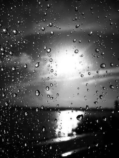 Raindrops On My Window Blackandwhite Blackandwhite Photography Sunset Sunlight Dream Romantic Rain Rainy Days Sun After The Rain River