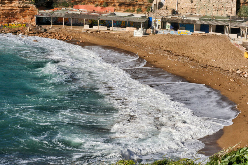 Architecture Beauty In Nature Built Structure Day Mediterranean  Mediterranean Sea Motion Méditerranée Nature No People Outdoors River Seaside Seaside Beach Sea Sheds Water Waterfront Wave Waves Waves Crashing Waves Rolling In