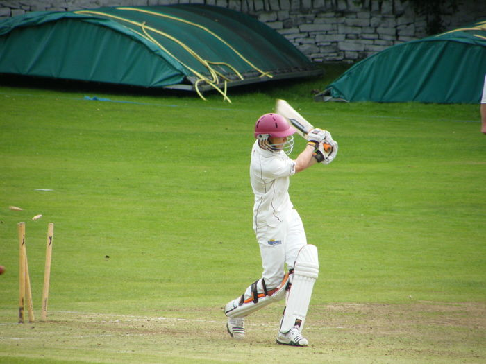 Adult Sport Standing Adults Only People One Person Headwear Outdoors Day Competition Recreation  Cricket Competitive Sport Athlete Leisure Activity Sports Team Batting Howzat Howzat! , Cricket, Match, Appeal, Wicket, Umpire, Fielders, Bowler, Bowled Out