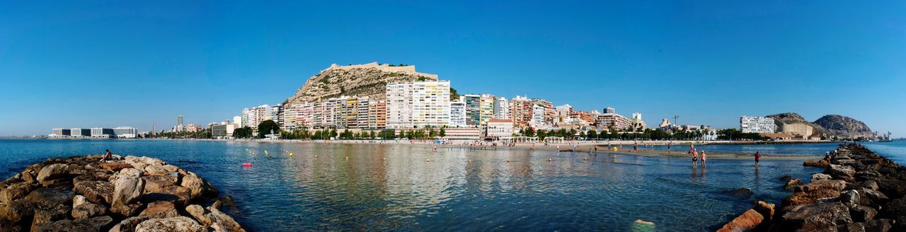 Beach Summer Cityscape Panoramic Ocean Costa Blanca City Spanish SPAIN Alicante Water Sky Architecture Building Exterior Clear Sky Built Structure Blue Sea Outdoors Travel Waterfront