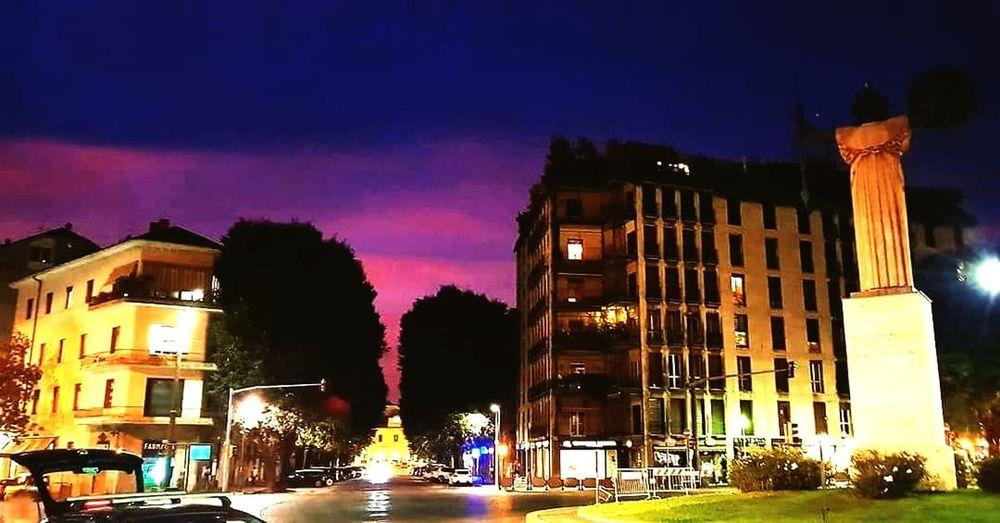 Sunrise Statuaminerva City Illuminated Tree Sky Architecture Building Exterior Built Structure