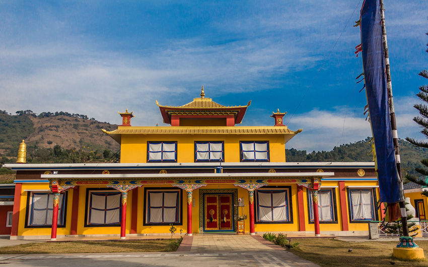 Exterior of temple against sky