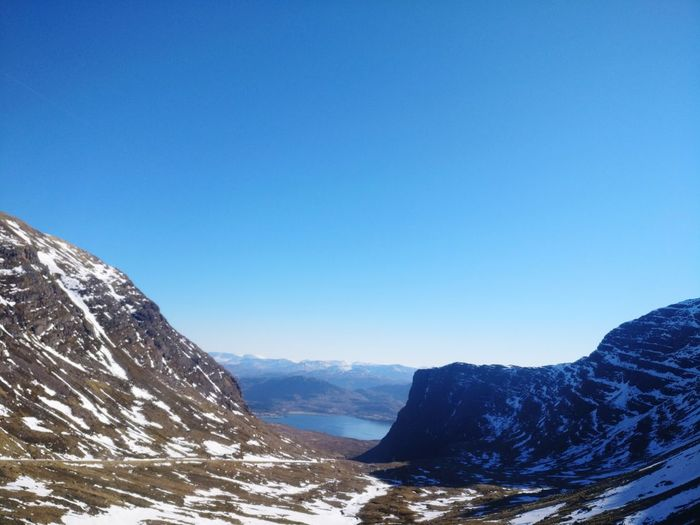 EyeMe Best Shot - Landscape Bealach Na Bà Rural Scotland Applecross Pass North Coast 500 Mountain Snow Cold Temperature Winter Tree Snowcapped Mountain Blue Clear Sky Adventure